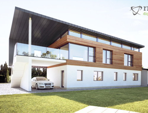 Contemporary House Design – 3D Rendering