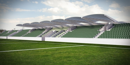 3D Rendering of New Sports Stand