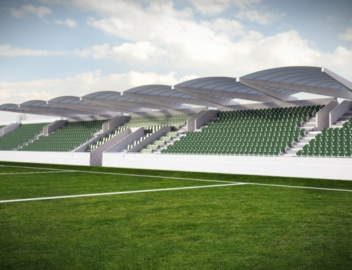 GAA Ruislip: 3D Rendering of New Sports Stand